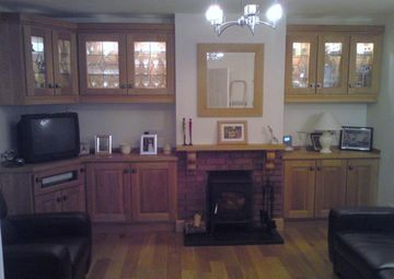Solid Frame Display TV Cabinets In Oak