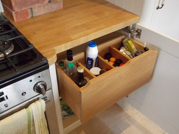 Pull Out Oil Spice Drawer
