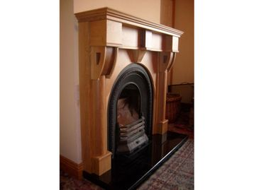 Fireplace Oak Walnut
