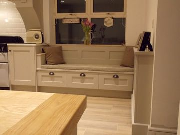 Hand Painted French Grey & Washed Oak