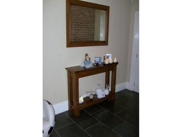 Hall Table Mirror Antique Oak