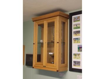 Solid Inframe Trophy Cabinet Oak Walnut
