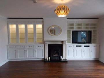 Display TV Cabinets Light Cream
