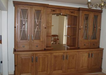 Display Drinks Cabinet Antique Oak Walnut